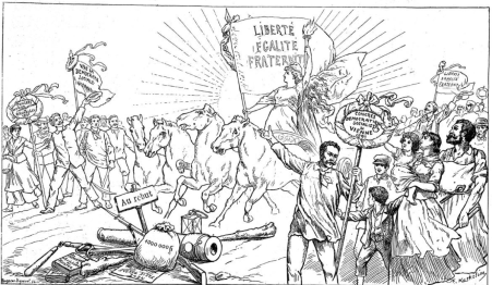 00_Alegoria del 1º de mayo_Extraido de Glühlichter-Viena_en Le Figaro-Graphic 1 mayo 1892