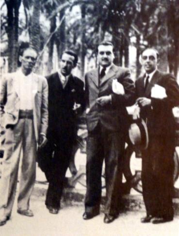 Domingo Germinal junto a otros compañeros confederales_Alicante años republicanos