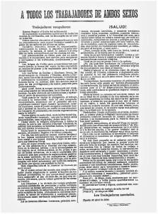 00_Hója_ A todos los trabajadores de ambos sexos, Los Trabajadores Asociados, España, 20 d'abril de 1890_Ateneu Enciclopèdic Popular