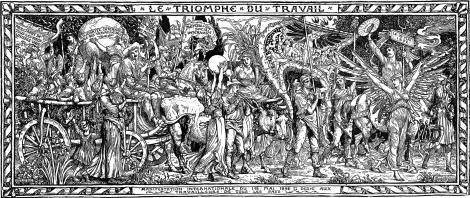 00_Le Triomphe du travail_Motteler-Walter Crane_1891_Le Figaro-Graphic 1 mayo 1892