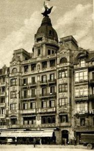00_Postal antigua del edificio de la Unión y el Fénix en la calle Arenal 3 de Bilbao