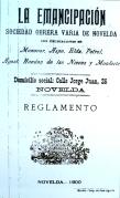 00_ReglamentoSOV LaEmancipación [Novelda, 1900] ArchivoParticularEdisónMaciá