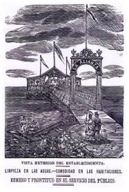 Balneario La Alianza_Postal siglo XIX_década 1860