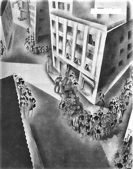 Colas abastecmientos Madrid 1937