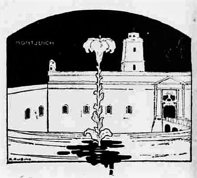 Dibujo Montjuich_Cronaca sovversiva 15-10-1910