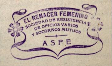El Renacer Femanino Aspe 1912