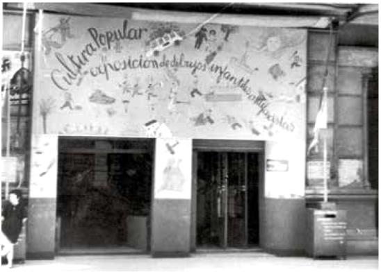 Exposició de Dibuixos Infantils Antifeixistes_Cultura Popular_primavera de 1937_Fotografia Francisco Javier de las Heras_Archivo ABC