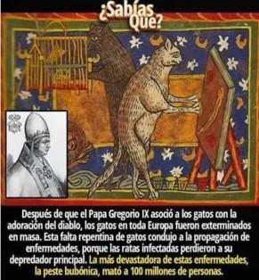 Gatos, diablos y epidemias medievales