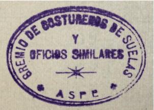 gremio costureros suelas aspe 1912