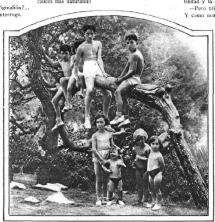 grupo inños Colonia Natur Torrent_Estampa 01-07-1930_