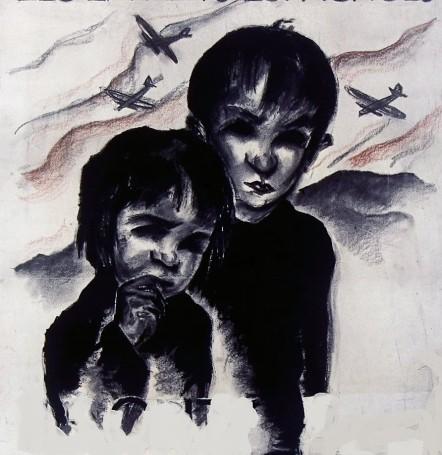 ilustracion_infancia guerra_Ils_ont_faim_les_enfants
