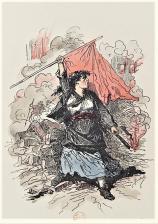 Les Communeux _1871 Types-caractères-costumes par Bertall 1880_La Barricada