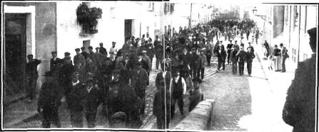 Motines de Consumos_Manifestacion Calle Jorge Juan Alicante_Nuevo Mundo 10-01-1907