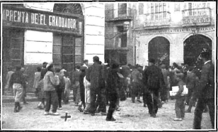 Motines de Consumos_Plaza Progreso Alicante_lugar donde cayo herido Francisco Rios_Nuevo Mundo 10-01-1907
