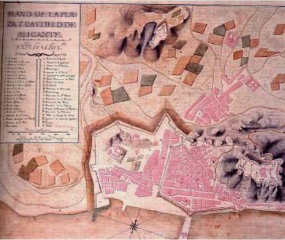 Plano Alicante_huertas periurbanas 1810