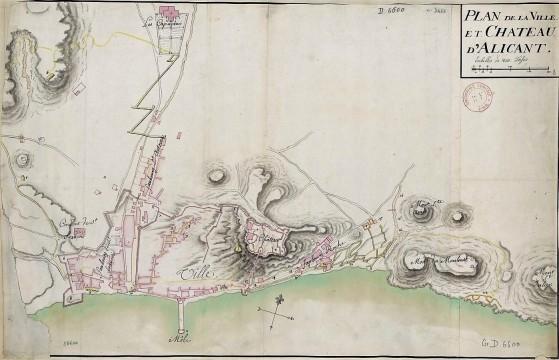 Plano del castillo y ciudad de Alicante_1709-BNF (4)