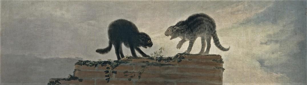 Riña_de_gatos_Goya 1787