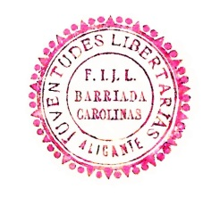 sello FIJL_Barriada Carolinas_1937_01
