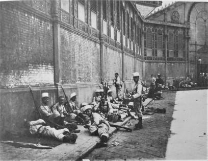 sucesos 1909_tropas en el mercado sant antoni barcelona