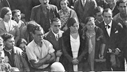 Traslado restos Ferrer_nicho Cementerio Civil de Montjuich_AMB_13-11-1932_Trini Ferrer, Matia Vilafranca y Messeguer