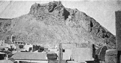 vista castillo_Alicante 1900