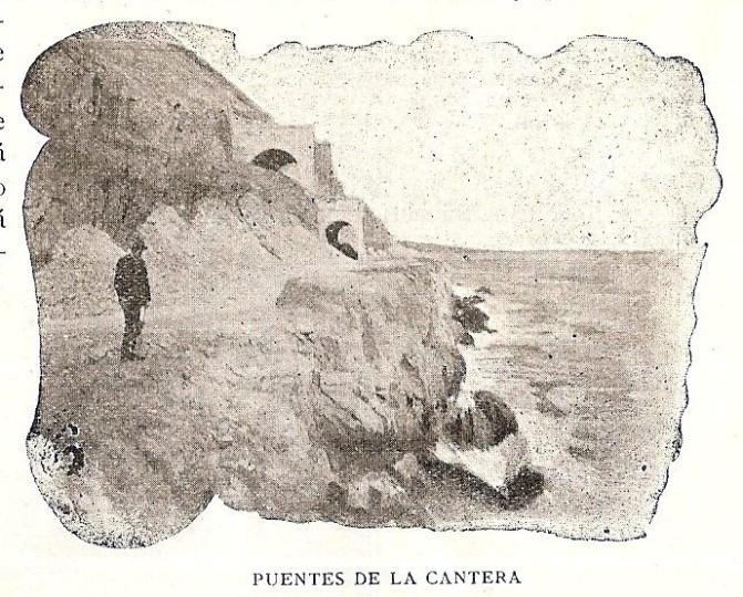 Vista de la Cantera_tuneles_Indicador de Alicante Verano de 1910