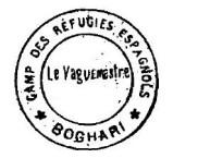 MATA-SELLO DEL CAMPO de concentración MORAND EN BOGHARI