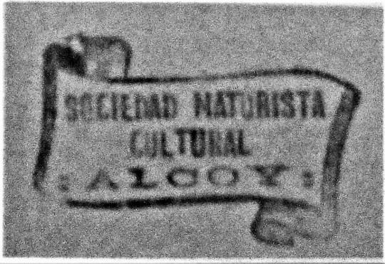 sello sociedad naturista cultural_Alcoi