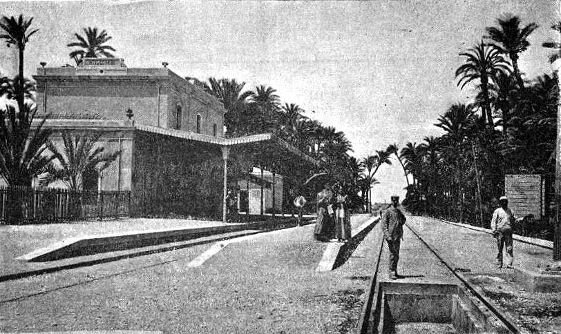 vista Estacion Elche 1900