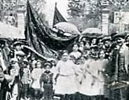 Manifestacion sociedad La Feminista 1912