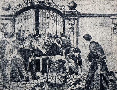 Tumulto en la fca_KateKollwitz_Almanaque de Tierra y libertad. 1933