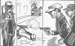 Terrorismo Blanco_Caricatura Responsables materiales_década 1920
