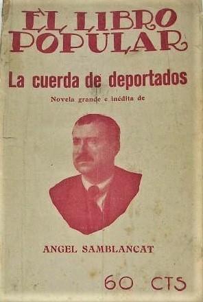 Terrorismo blanco_Portada La cuerda de deportados_Ángel Samblacat 1922