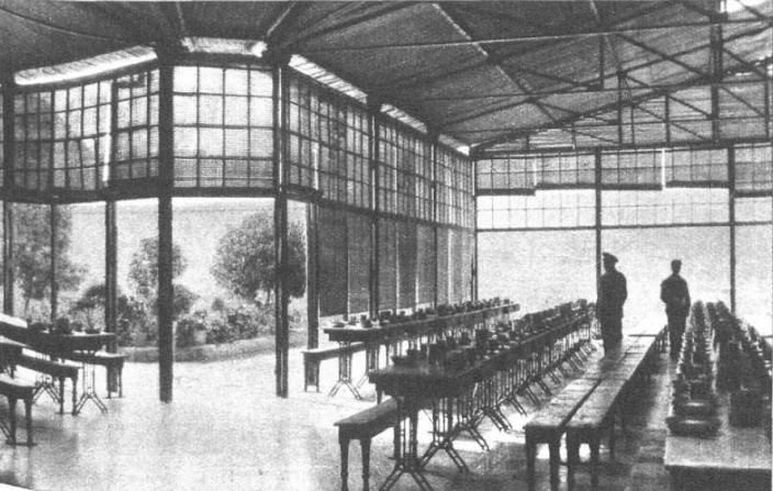 vista interior comedor Reformatorio Alicante 1931_Mndo Gráfico