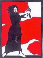 mujer roja