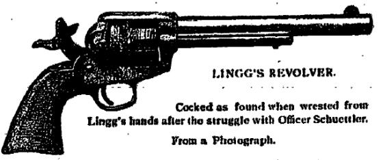 Ilustracion Lingg revolver_the Chicago Haymarket conspiracy_MJ Schaack