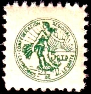 Sello Confederación Regional de Campesinos de Levante 1936