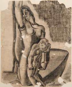 Alegoría Tomàs Ferrándiz Llopis Mare amb el seu fill mort estret contra el seu cos_1936-37