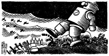 Artificio revolucionario_Hombre máquina_Ilustraciones_Frankenstein L'Age d'Or ou le Fin du monde_Jean Nocher_París 1935_05