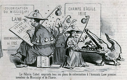 00_Cham_1818-1879 - 0480- Ce qu'on appelle des idées nouvelles en 1848_ Six petites images à clairevoie_Pelerin Cabet