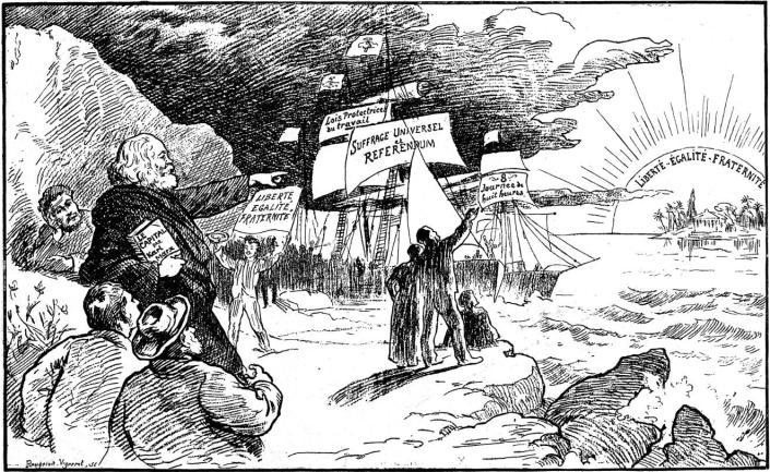00_La Terre Promise_Extraido de Glühlichter-Viena_en Le Figaro-Graphic 1 mayo 1892