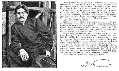 Carta de Gorki sobre España_Capri enero 1910_carasycaretas 21-05-1910