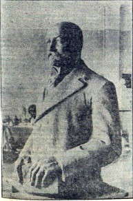 Estatua Ferrer Guardia en Moravska Ostrava_Checoslovaquia_mayo 1936