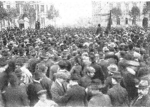 Manifestacion Pro Ferrer_Montevideo 13-10-1909