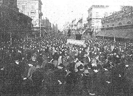 Manifestacion Pro Ferrer_Montevideo 13-10-1909_plaza 18 julio