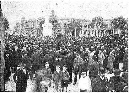 Manifestacion Pro Ferrer_plaza Libertad Montevideo 13-10-1909