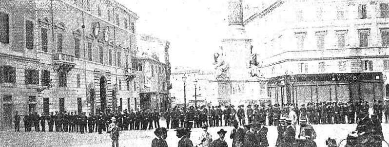 Manifestacion Roma 17-10-1909_embajada española protegida