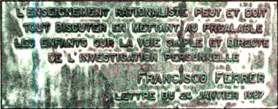 Monumento Ferrer en Bruselas_La enseñanza racionalista puede y debe discutirlo todo situando con anticipación al niño en la vía simple y directa de la investigacx personal