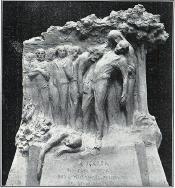 PROPOSED FERRER STATUE _Boceto Ferrer Montmatre M Derre La Actualidad 23-11-1909