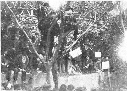 reunión anarquista Pro Ferrer_plaza constitucion_Buenos Aires 14-10-1909
